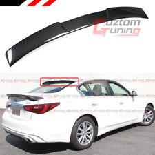 For 2014-2020 Infiniti Q50 Vip M Style Carbon Fiber Rear Roof Window Spoiler (Fits: Infiniti)