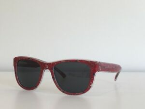Dolce & Gabbana DG 4284 3054/87 Round Red Floral Gray Sunglasses 54*20*145