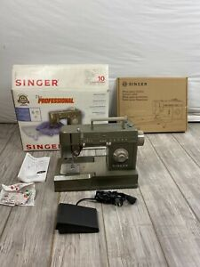 Serviced Singer Professional Sewing Machine HD110C HD + Quilter Table w/ Box