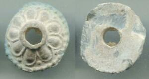(18699)Lead Button from Central Asia, 9-11 Ct AD