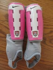 Nike Youth T90 Charge Pink White Gray Shin Guards Size Small Euc