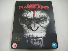 Dawn Planet of the Apes 3D (2014) - HMV Limited Ed. Steelbook Blu-Ray | Like-New