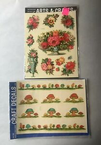 Meyercord Vintage Decals In Original Sealed Packages NEW Mixed Lot Of 2