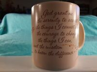 God Grant Me Serenity, Courage, Wisdom, Coffee Mug Tea Cup, American Greetings