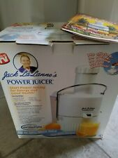 Jack Lalanne Power Juicer White Vegetable Fruit Extractor (Model# Cl-003 w book
