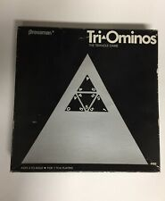 Tri-Ominos Pressman Game 1978 Used Complete 56 Black Pieces