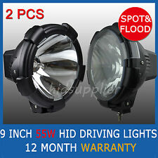 "Pair 9"" 55W HID XENON DRIVING LIGHTS OFF ROAD 50W 9 INCH SPOT & FLOOD COMBO"