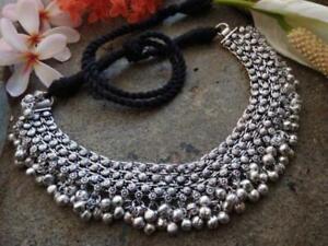 Indian Ethnic Oxidized Boho Rajasthani Choker Necklace Indian Jewelry