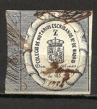 3302- GRAN SELLO FISCAL COLEGIO NOTARIAL MADRID ESCRIBANOS AÑO 1850 UNICO