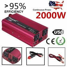 4000W Max 2000W Power Inverter Sine Wave DC 12V to AC 110V Power Converter USA L