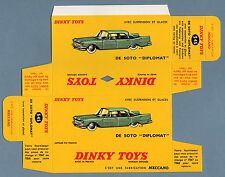 DINKY TOYS 545 : DE SOTO DIPLOMAT box repro boite reprobox refabrication copie