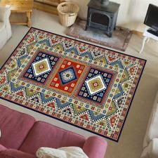 Teppich Stylisch Vintage Retro Look Nordisch Wohnzimmer Aras Blau-Mehrfarbig