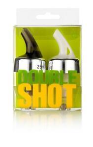 NWT NPW Boxed Double Shot Pourer Set, Perfect Cocktail Shot Pourer, 25ml & 50ml