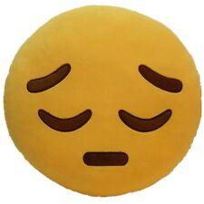 "USA SELLER Emoji Pillow 12""Inch Large Yellow Smiley 30cm Emoticon (Depression)"