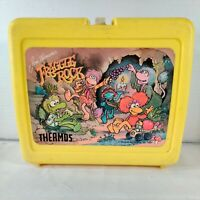 Vintage 1987 Jim Henson's Fraggle Rock Yellow Plastic Lunchbox - MISSING THERMOS