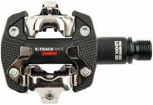 """LOOK X-TRACK RACE CARBON Pedals - Dual Sided Clipless, Chromoly, 9/16"""", Black"""