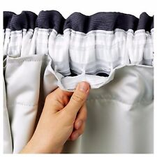 BLACKOUT THERMAL Coated Curtain Linings 3 Pass Ready Made Tape Top | All Sizes