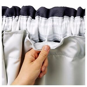 BLACKOUT THERMAL Coated Curtain Linings 3 Pass Ready Made Tape Top   All Sizes