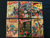 SUPERMAN & ACTION Lot of 6 Silver Age Comics: #204,208,214,216,239,352  Avg G/VG