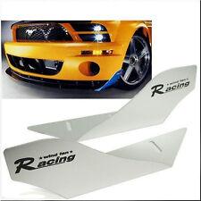 CAR RACING WIND FAN ALUMINUM BUMPER SPLITTER SPOILER WING X 2 PIECES SILVER