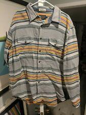 Pendleton Surf Blanet striped style button front board shirt style cotton EUC XL