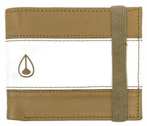 Nixon Men's Cape Geunie Leather Bi-Fold Wallet With Elastic Band Closure