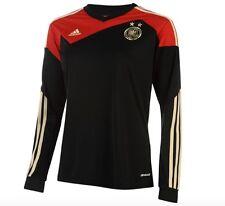 ADIDAS MUJER Alemania DFB Equipo Nacional Maillot de manga larga Negro Rojo Oro