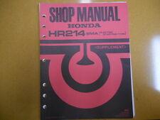 1984 HONDA HR214 SMA Factory Service Supplement