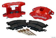 """WILWOOD BIG GM BRAKE CALIPER & PAD SET W/PINS,REAR,RED,1.04"""" DISCS,D52"""