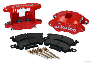 "WILWOOD BIG GM BRAKE CALIPER & PAD SET W/PINS,REAR,RED,1.04"" DISCS,D52"