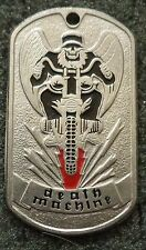 RUSSIAN DOG TAG PENDANT MEDAL    DEATH MACHINE       #217S