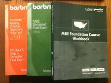 BARBRI MBE MPQ VOLUME 2 AND SIMULATED MBE EXAM