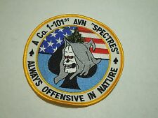 "A CO 1-101st AVN ""Spectres"" Always Offensive In Nature Spade Skull Sew On Patch"