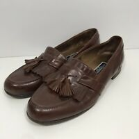 Bragano Cole Haan Brown Loafer Men's Size 11 Leather Tassel Dress Shoe Italy