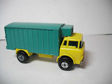 MATCHBOX SUPERFAST #44D GMC REFRIGERATOR TRUCK RARE YELLOW/TURQUOISE MODIFIED!!