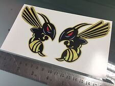 Hornet Honda Bees Decals / Stickers X2 stickers (Design #3)