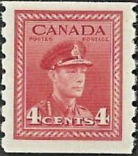 Canada   # 267   KING GEORGE VI COIL WAR ISSUE    Brand New 1943 Pristine Gum
