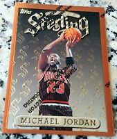 MICHAEL JORDAN 1996 Topps Finest Sterling w/ Coating Chicago Bulls HOF 6x Champs