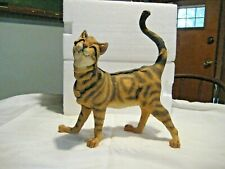 "Large Breed Apart Tabby Cat Dandy 10"" high + tail Nib Sculpture Figurine Rare"