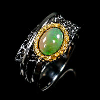 Quality Gemstone Natural Opal 925 Sterling Silver Ring Size 6.25/R83556