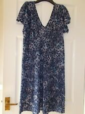 Ladies Dress size 12 by Marks and Spencer blue floral