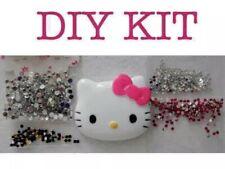 DIY Hello Kitty Fuchsia Pink Bow Silver Crystal Rhinestones Deco Kit Flatback