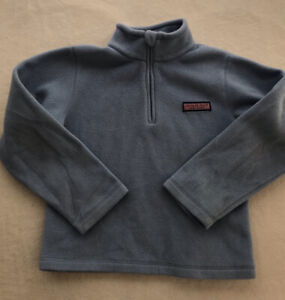 Vineyard Vines Youth kid Sz M Blue 1/4 Zip Fleece Pullover EUC Unisex