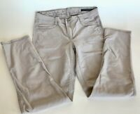 Calvin Klein Jeans khaki stretch convertible two sided skinny pants women's 14