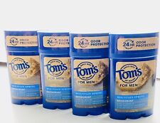 PACK OF 4 Tom's of Maine for Men Mountain Spring Deodorant 2.25 Oz exp 1/21-6/21