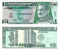 Guatemala Banknote 1 Quetzal 1991 Banco de Guatemala P-73b SEHR SELTEN