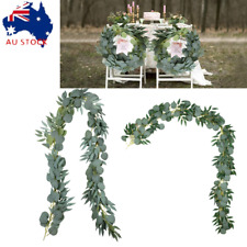 2m Artificial Eucalyptus Leaves Garland Wedding Decor Backdrop Arch Wall Décor
