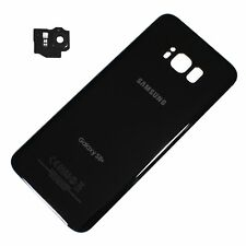 "Samsung Galaxy S8+ Plus 6.2"" G955U Battery Back Door Glass Cover + Camera Black"