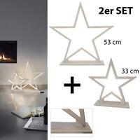 LED Stern Deko Boden Lampe Weihnachten Stern Silhouette Lucy Wood Sompex Holz