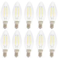 10x E14 LED Kerze Filament Lampe Fadenlampe Glühfaden 2 Watts 140 Lumen Kaltweiß